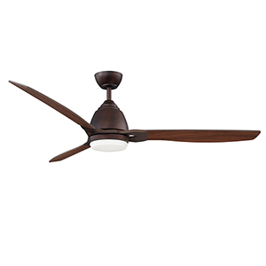 Eris Oil Brushed Bronze 52-Inch LED Ceiling Fan with Walnut Blades
