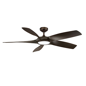 Blade Runner Architectural Bronze 54-Inch LED DC Motor Ceiling Fan