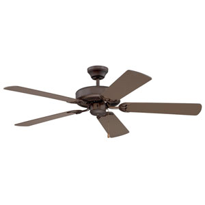 Builders Choice 52-Inch Oil Rubbed Bronze with Matching Blades Ceiling Fan