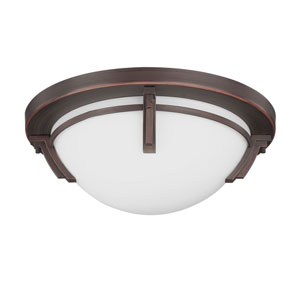 Portobello Oil Rubbed Bronze Three-Light 16.5-Inch Flush Mount