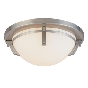 Portobello Satin Nickel Three-Light 16.5-Inch Flush Mount