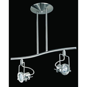 Eris Satin Nickel Two-Light 18.5-Inch Fixed Rail