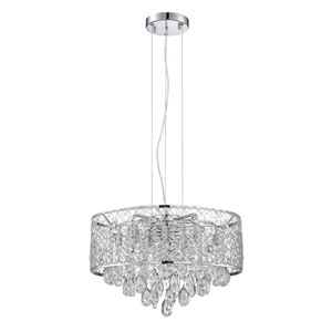 Solaro Chrome 10-Light 20-Inch Chandelier