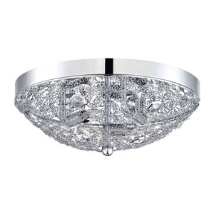 Solaro Chrome Three-Light 11-Inch Flush Mount