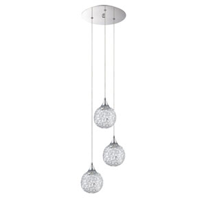 Solaro Chrome Three-Light 11-Inch Mini-Pendant
