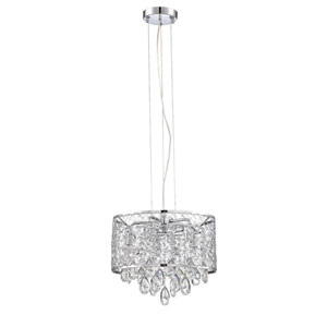 Solaro Chrome Five-Light 14-Inch Chandelier