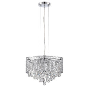Solaro Chrome Eight-Light 18-Inch Chandelier