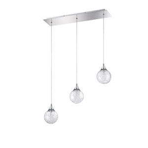 Fybra Chrome Three-Light 24-Inch Mini-Pendant