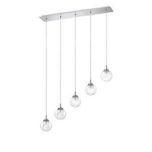 Fybra Chrome Five-Light 34-Inch Mini-Pendant