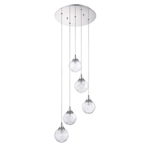 Fybra Chrome Five-Light 16-Inch Mini-Pendant