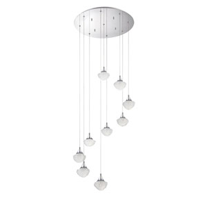 Icicle Chrome Nine-Light 22-Inch Mini-Pendant