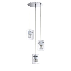 Metro Chrome Three-Light 13-Inch Mini-Pendant