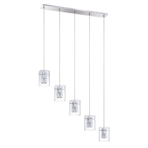 Metro Chrome Five-Light 37-Inch Mini-Pendant
