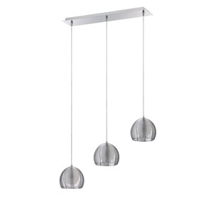La Cage Chrome Three-Light 27-Inch Mini-Pendant