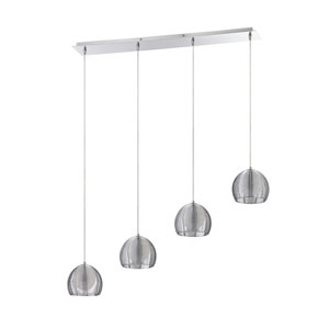 La Cage Chrome Four-Light 37-Inch Mini-Pendant