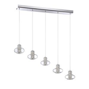 Aria Chrome Five-Light 42-Inch Mini-Pendant