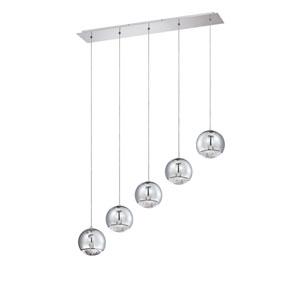Spumante Chrome Five-Light 35-Inch Mini-Pendant