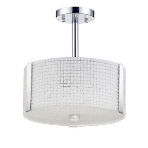 Glacier Chrome Three-Light 12-Inch Flush Mount