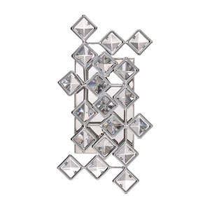 Milano Chrome Two-Light Seven-Inch Wall Sconce