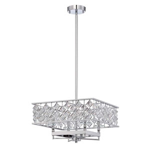 Milano Chrome Four-Light 17-Inch Chandelier