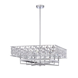 Milano Chrome Eight-Light 26-Inch Chandelier