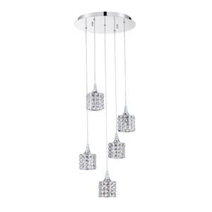 Lustra Chrome Five-Light 16-Inch Mini-Pendant