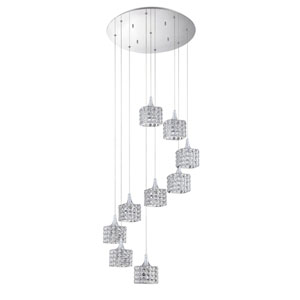 Shimera Chrome Nine-Light 22-Inch Mini-Pendant