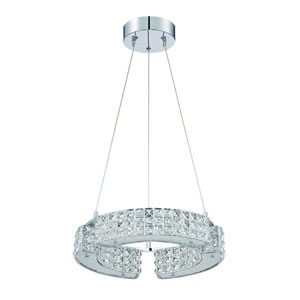 Carina Chrome Six-Light 16-Inch Chandelier