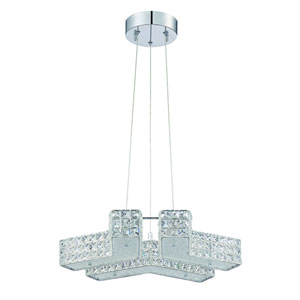 Carina Chrome Six-Light 20-Inch Chandelier