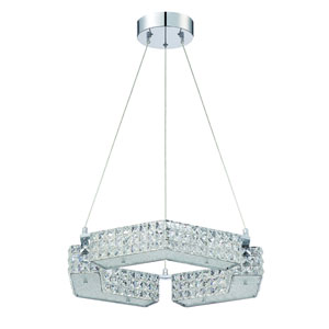 Carina Chrome Six-Light 21-Inch Chandelier