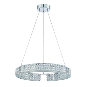 Carina Chrome Nine-Light 23-Inch Chandelier
