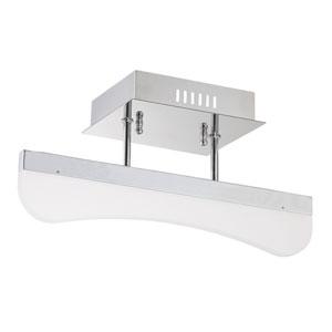 Bow Chrome LED Semi-Flush Mount