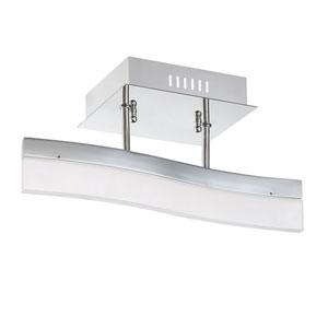 Cerv Chrome LED Semi-Flush Mount
