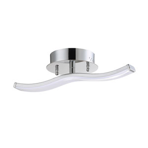 Wave Chrome LED Flush Mount