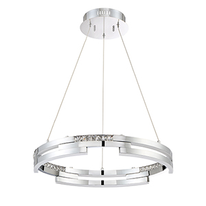 Satern Chrome 24-Inch LED Pendant