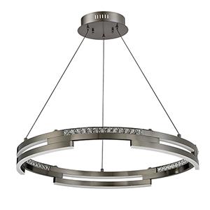 Satern Black Stainless 30-Inch LED Pendant