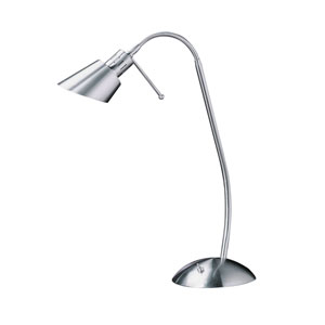 Oslo Satin Nickel One-Light Task Lamp