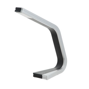 Zig Silver and Black One-Light LED Task Lamp