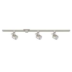 Satin Nickel Three-Light LED Track Light Kit