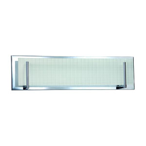 Aurora Chrome Four-Light Vanity with Linen Glass