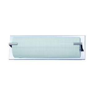 Paramount Chrome Three-Light Vanity with Linen Glass