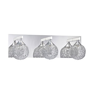 Solaro Chrome Three-Light Vanity