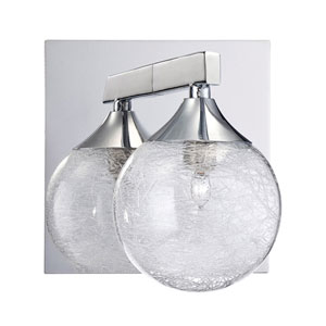 Fybra Chrome One-Light Bath Sconce