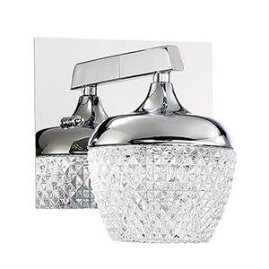 Arika Chrome LED Bath Sconce