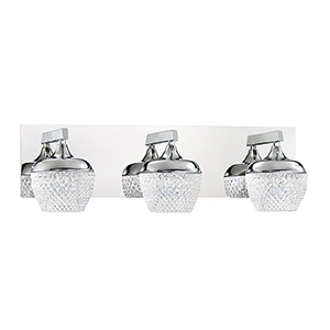 Arika Chrome Three-Light LED Bath Vanity