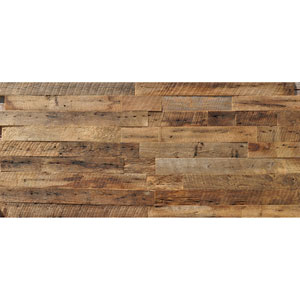 Real Reclaimed Brown Unsealed Wood, 5.5-Inch Planks