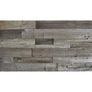 Real Reclaimed Gray Unsealed Wood, Mixed Plank Sizes