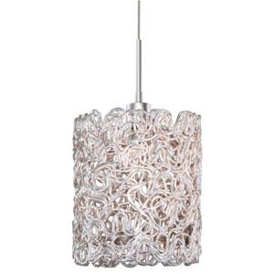 Dazzle Satin Nickel Five-Inch One-Light LED Pendant