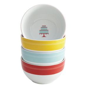 4-Piece Porcelain Ice Cream Bowl Set