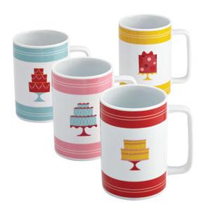 4-Piece Porcelain Mug Set